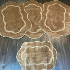 ROMANY GYPSY WASHABLES  SETS OF TOURER SIZE 67X110CM MATS-RUGS LIGHT BROWN